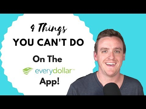 4 Things You Can't Do on the EveryDollar App