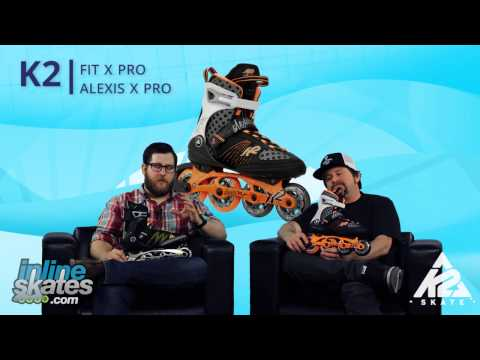 Video: 2015 K2 FIT X Pro and Alexis X Pro Inline Skate Overview by InlineSkatesDOTcom