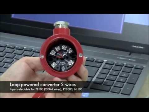 Convertidor de señal RTD 4 20mA programación transmisor, cabezal  DIN B