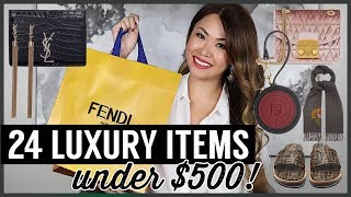 BEST LUXURY GIFTS UNDER $500 - DESIGNER GIFT GUIDE FOR HER & HIM! YSL, FENDI, GIVENCHY, VALENTINO