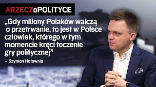 Hołownia: Polacy walczą o życie, a Kaczyńskiego kręci gra polityczna  