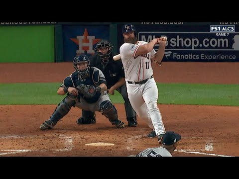 ALCS Gm7: Gattis launches solo homer to open scoring
