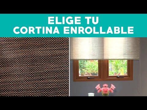 ¿Cómo elegir cortinas enrollables?