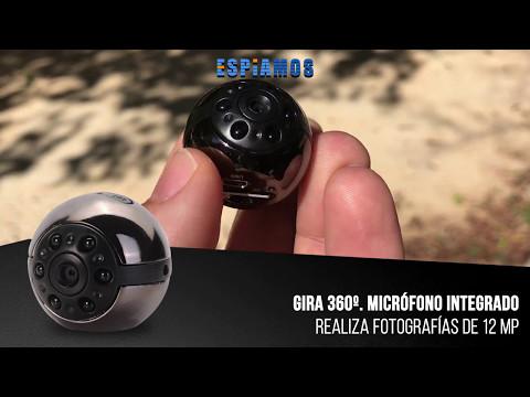 😎 MINI CAMARA ESPIA rotativa FULL HD con visión nocturna 1080p 🕵️♂️ ESPIAMOS.COM 👀