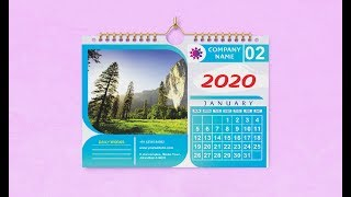 Calendar Design - In Corel Draw With Size And Setting | Design 4u