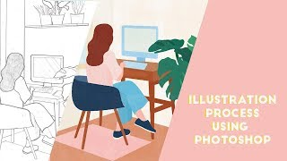 ILLUSTRATION PROCESS Using Adobe Photoshop   How I Make My Art