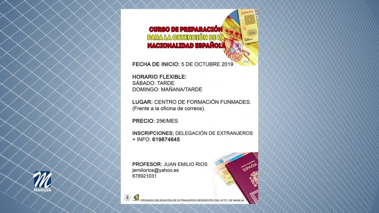 REUNIÓN INFORMATIVA SOBRE EL CURSO PARA OBTENCIÓN DE LA NACIONALIDAD ESPAÑOLA