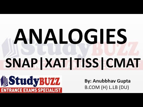Most important analogy questions for SNAP | XAT | TISS | CMAT | MAT