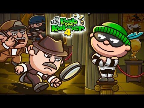 ВОРИШКА БОБ 4 - мультик игра для детей ГРАБИТЕЛЬ БОБ ограбил ОСОБНЯК и убегает от ОХРАННИКОВ #16