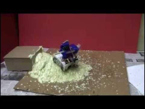 Rain Man Robot Builds Ramps With Randomly Tossed Toothpicks