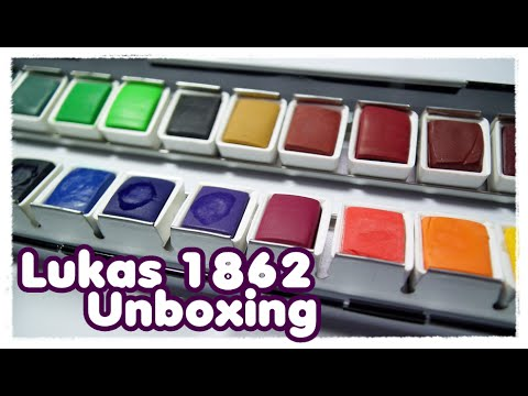 Lukas 1862 Aquarell Unboxing + erster Eindruck