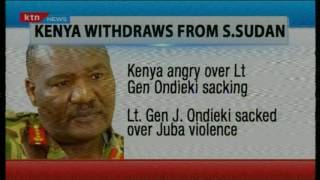 KTN Prime: Kenya Withdraws its troops from Sudan after Lt. Ondieki is sacked over violence, 2/11/16