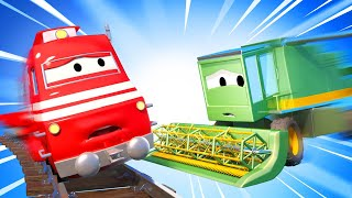 Tom the Tow Truck -  Harvey the Harvester Collides with Troy