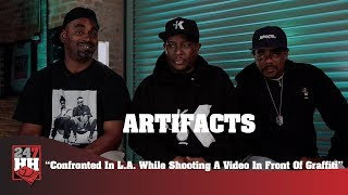 Artifacts - Confronted In L.A. While Shooting A Video In Front Of Graffiti (247HH Exclusive)