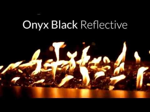 Onyx Black Reflective Fire Glass | Lakeview Outdoor Designs