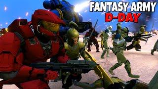 ALL Fantasy Armies D-DAY Beach INASION! - UEBS: Star Wars, Halo, Warhammer 40k, LotR, GoT mods