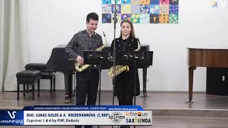 DUO L. KOLEK & A. WIEDEMANOVA play Caprices 1 6 by P.M. Dubois #adolphesax