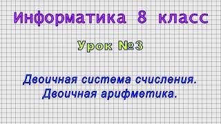 Информатика 8 класс Урок 03
