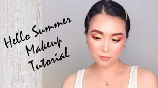 Hello Summer Makeup Tutorial / Yellow & Orange Eyeshadow / MAC Cosmetics / Graciella Francesca