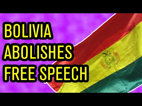 In Bolivia, Criticizing the Government is Illegal
