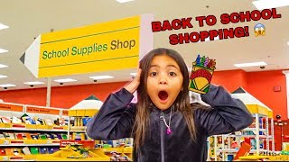 AVA GOES BACK TO SCHOOL SHOPPING FOR FIRST GRADE!!!