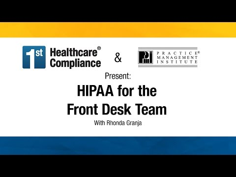 HIPAA for the Front Desk Team - YouTube