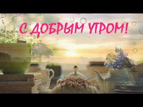 ДОБРОЕ УТРО ! Пожелание с Добрым Утром ! Музыкальная Анимационная видео открытка с ДОБРЫМ УТРОМ!