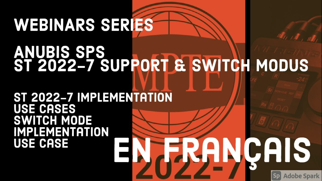 Anubis SPS – support de ST 2022-7 (redondance) – mode switch