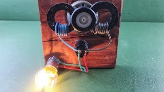 Magnets Coil Generator Using DC Motor , Free Energy Device New Science Experiment Project 2018