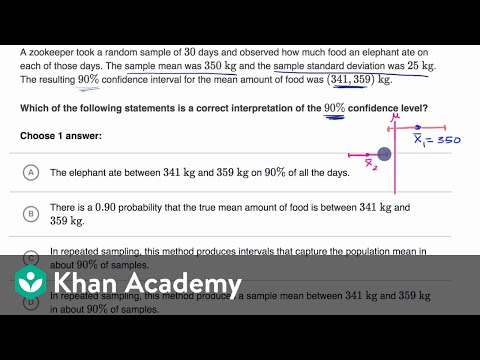 Interpreting confidence level example (video) | Khan Academy