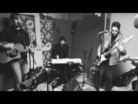 Performing a song I wrote with my five-piece band.