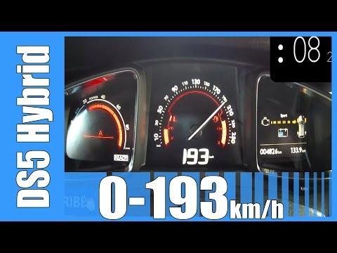Citroen DS5 200 HP Hybrid4 0-193 km/h NICE! Acceleration Test Autobahn