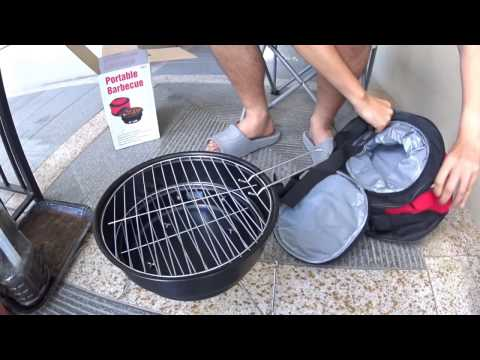 JS #392 -【Trying Out】 Portable BBQ Grill Outside Our Door 小型烤肉架