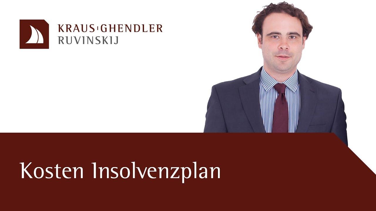 Kosten eines Insolvenzplans