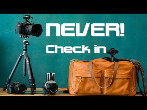 2 Tips to avoid CHECKING in your Camera Gear