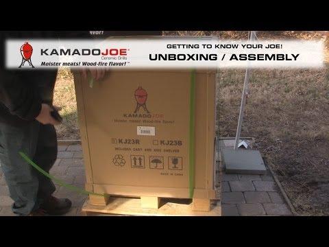 Распаковка и сборка Kamado Joe Classic Red