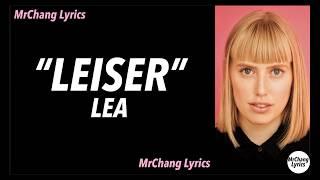 LEA   Leiser (LYRICSEnglish Translations)