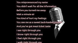 Alanis Morissette - Right Through You (lyrics)