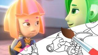 Все Серии - ФИКСИКИ - Сборник 3 Раскраски с Фиксиками - Funny Kids Cartoons