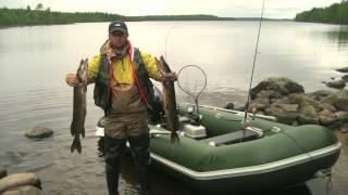 Рыбалка в карелии на озере поньгома
