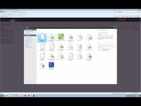SharePoint 2010 Lesson 1 - Getting Started