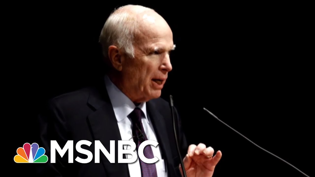 John McCain Discusses His Last Term In Office In Memoir | Morning Joe | MSNBC thumbnail