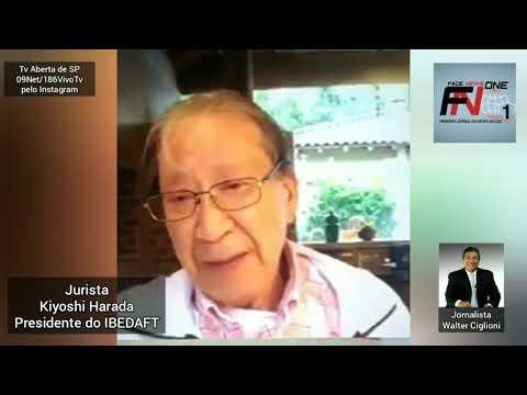 Jurista Kiyoshi Harada Presidente do IBEDAFT em entrevista para o Jornalista Walter Ciglioni