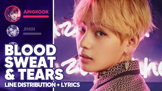 BTS - Blood Sweat & Tears (Line Distribution + Lyrics Color Coded) PATREON REQUESTED