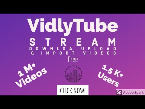 VidlyTube - Free Video Sharing for  Everyone
