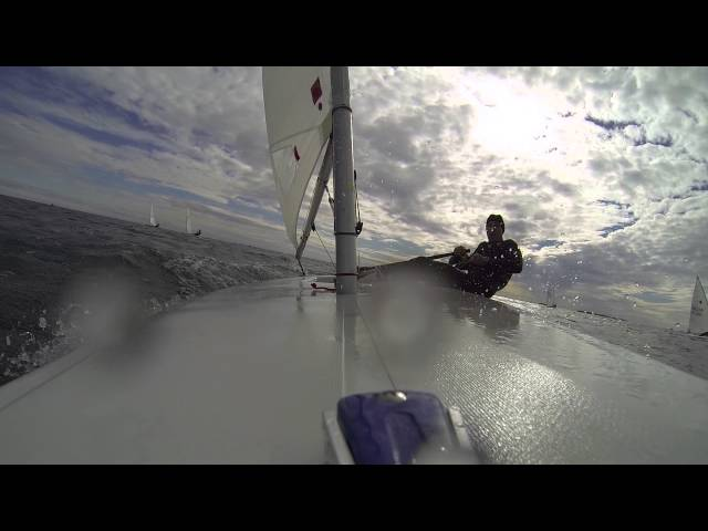 Laser Sailing - Racing Ride Along with Andrew Scrivan