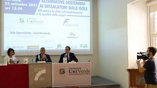 """SERVIZIO VIDEO """"Alternative sostenibili ai dissalatori sulle isole"""" (Roma, 22-09-2021)"""