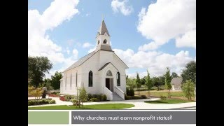 Why churches must earn nonprofit status