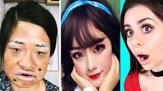 2 Seconds vs 2 Hours Makeup Challenge !