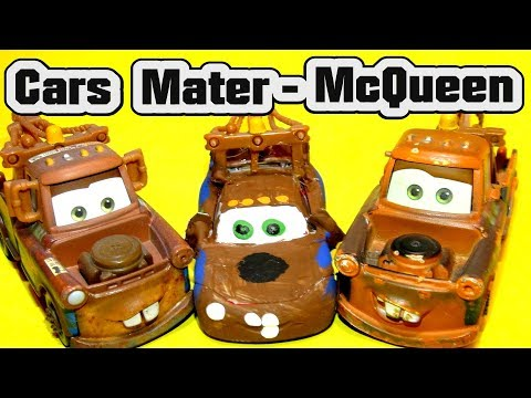 Pixar Cars Mater Custom Lightning McQueen As Mater With The Demolition Derby Crazy 8 Racers From Car